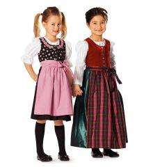 9509 BURDA Kids Schnittmuster Dirndl