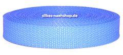 Gurtband 25mm hellblau-flieder