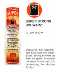 5m MADEIRA Stickvlies Super Strong schwarz