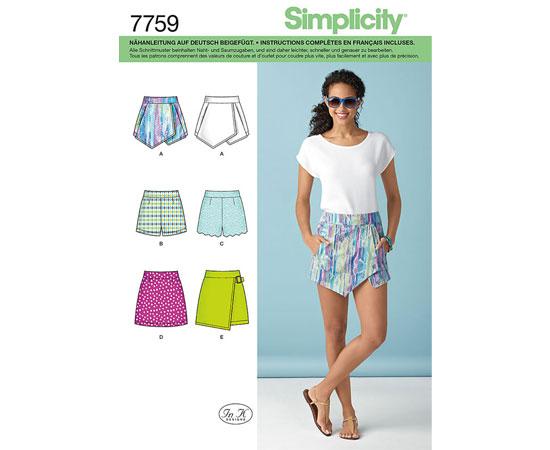 Schnittmuster von simplicity