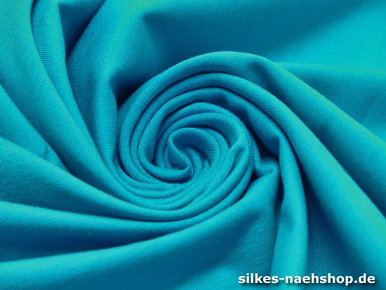 Jersey Baumwolle elastisch türkis