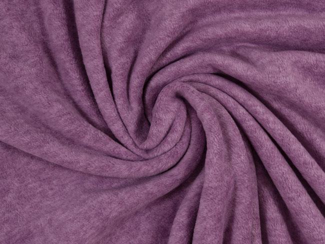 Swafing Fleecestoff lila meliert