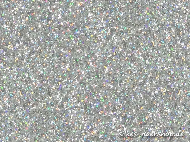 Glitzerstoff silber
