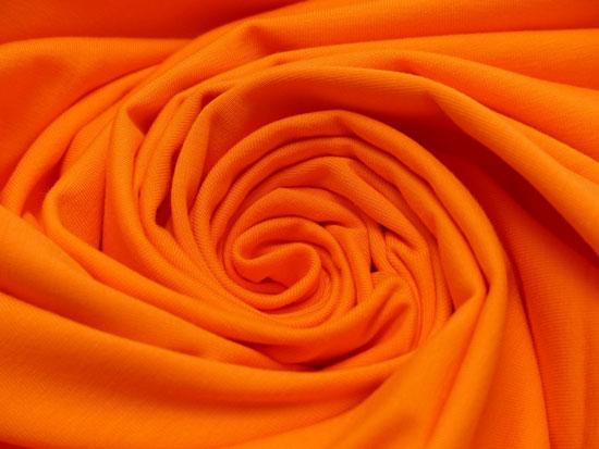 Produktabbildung Jerseystoff orange