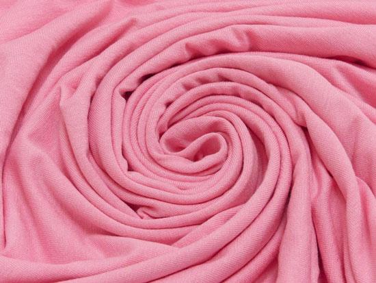 Viskosejerseystoff rosa bi-elastisch