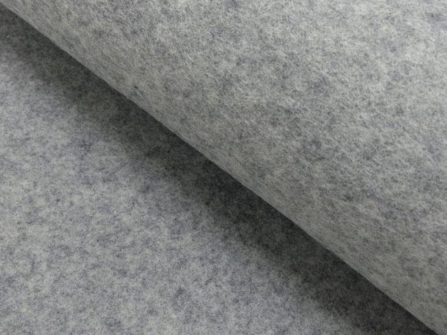 Wollfilz 2mm hellgrau meliert